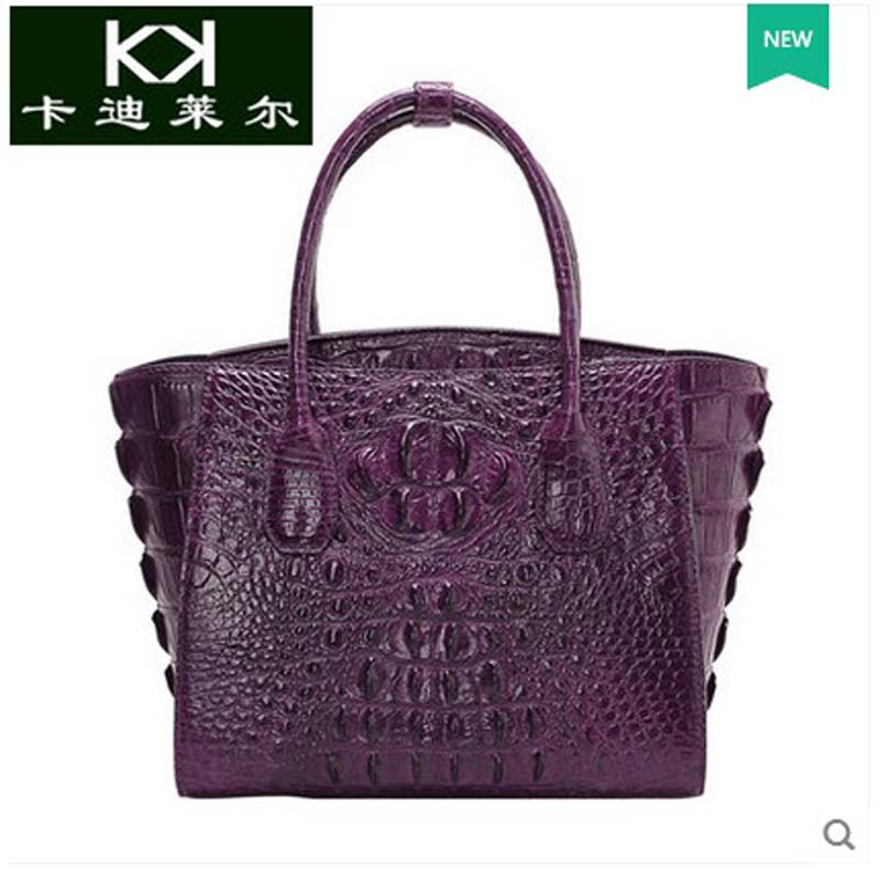 5a2ba903eba8 kadiler imported Thailand crocodile handbag leather handbag Europe and the United  States the new female bag