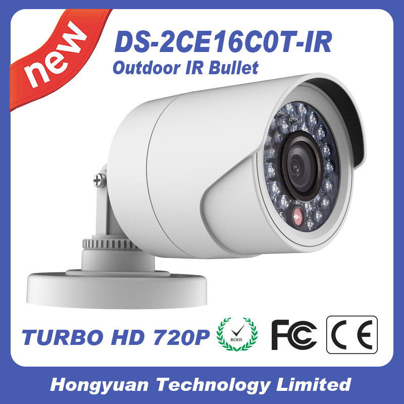 Hikvision cctv camera HD720P IR Bullet Camera DS-2CE16C0T-IR bullet camera tube camera headset holder with varied size in diameter