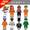 8 unids lote de Películas de Batman Vengadores Marvel Mini Ninjagoes Joker Harley Quinn Robin Figuras Building Block Toy Compatible con Legoe