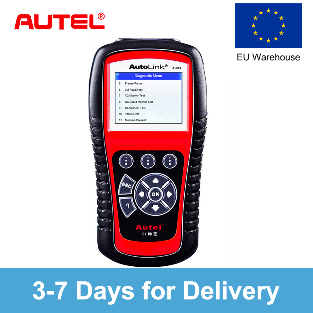 все цены на Autel Autolink AL619 Car Diagnostic Tool ABS/SRS + CAN OBD2 Scan Tool Update OBDII Scanner Auto Code Reader Scanner Automotive онлайн