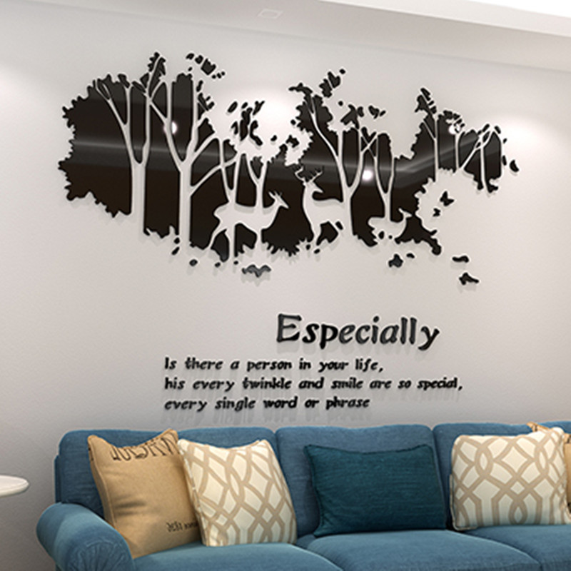 Elk acrylic 3D three dimensional wall sticker, living room sofa, wall sticker, bedroom wall, TV wall decoration