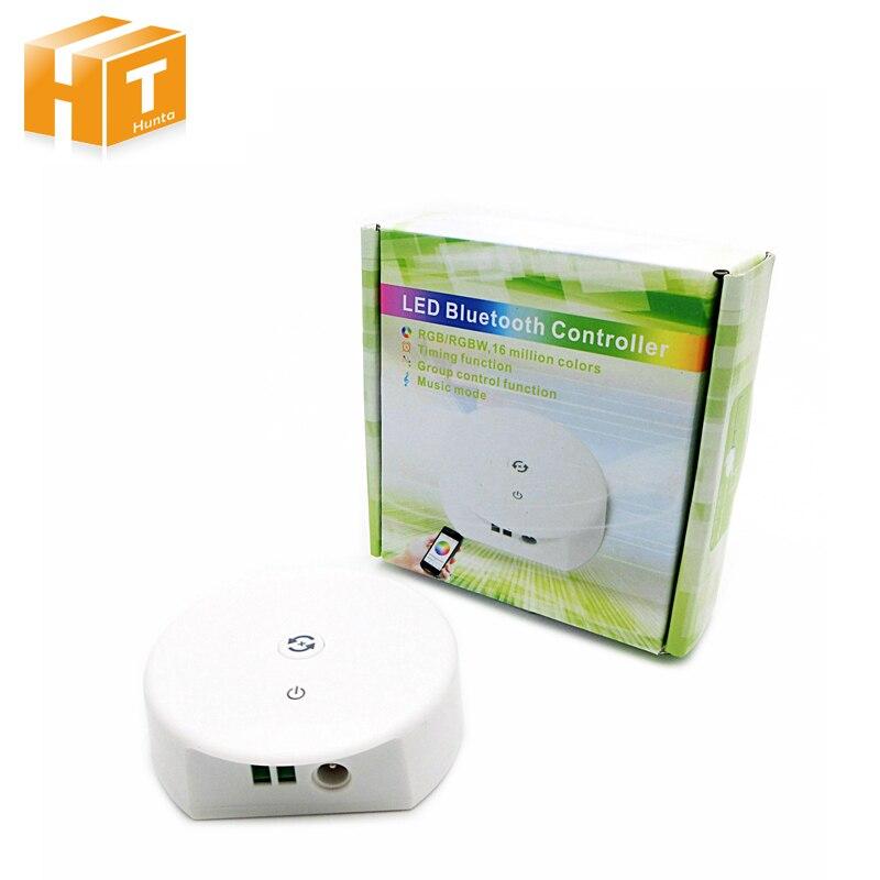 Ensoleillé Dc12-24v Bluetooth Rvb Rgbw Led De Contrôle, Fonction De Synchronisation, Contrôle De Groupe, Mode Musique, S'appliquent à Ios/android