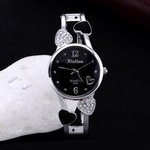 hot sale luxury rhinestone heart-shaped bracelet watches women watches fashion wrist watch ladies watch clock relogio feminino