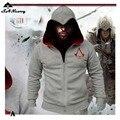 Мода Мужчины Assassins Creed Капюшоном Толстовка Hombre Осень Зима Твердые Толстовка Кофты Мужчины Косплей Chadal Cool Clothing 3XL