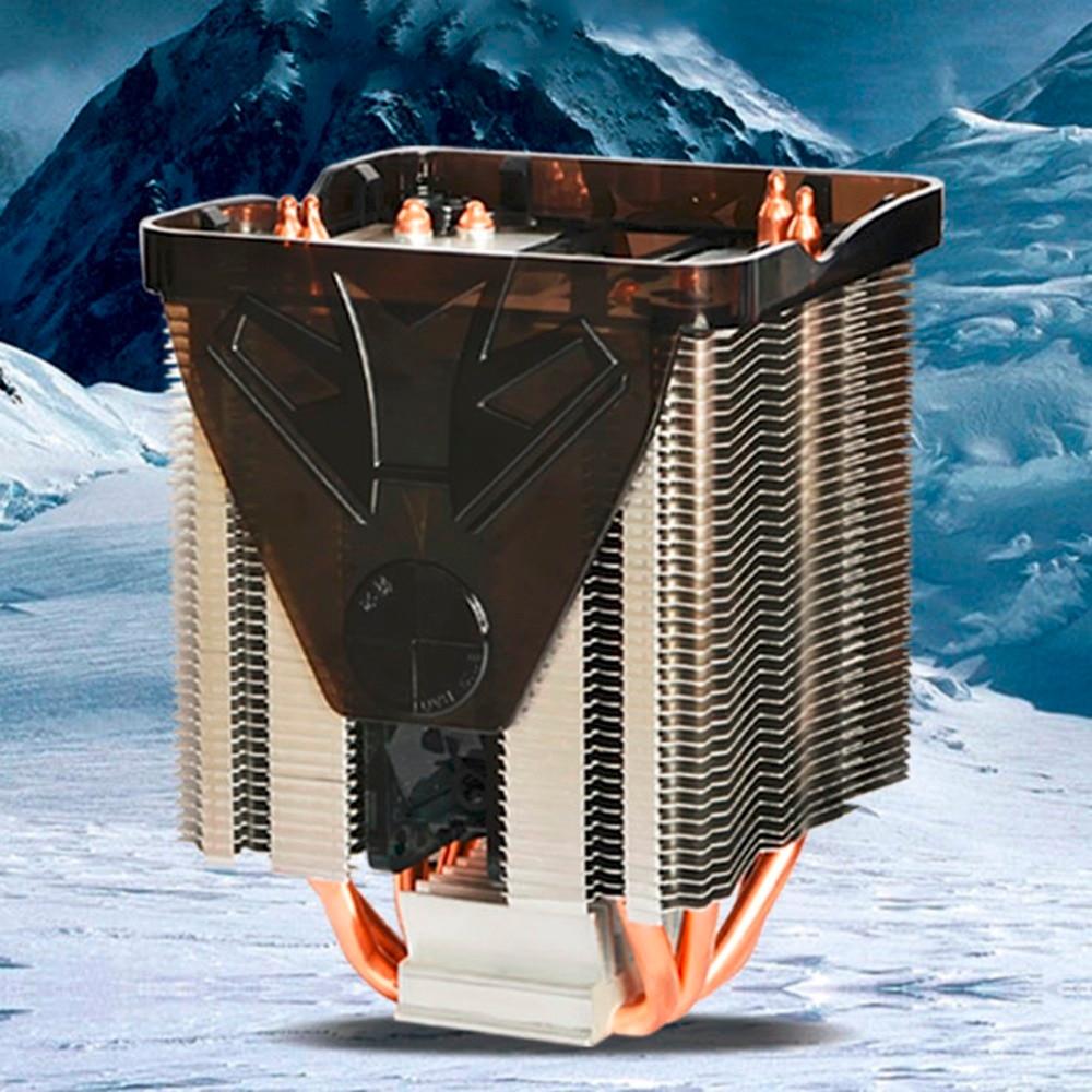Pure Copper Four heat pipe three fan CPU Cooler Heatsink for AMD FM2 FM1 Bottom CTT process highlight DIY personality for asus u46e heatsink cooling fan cooler
