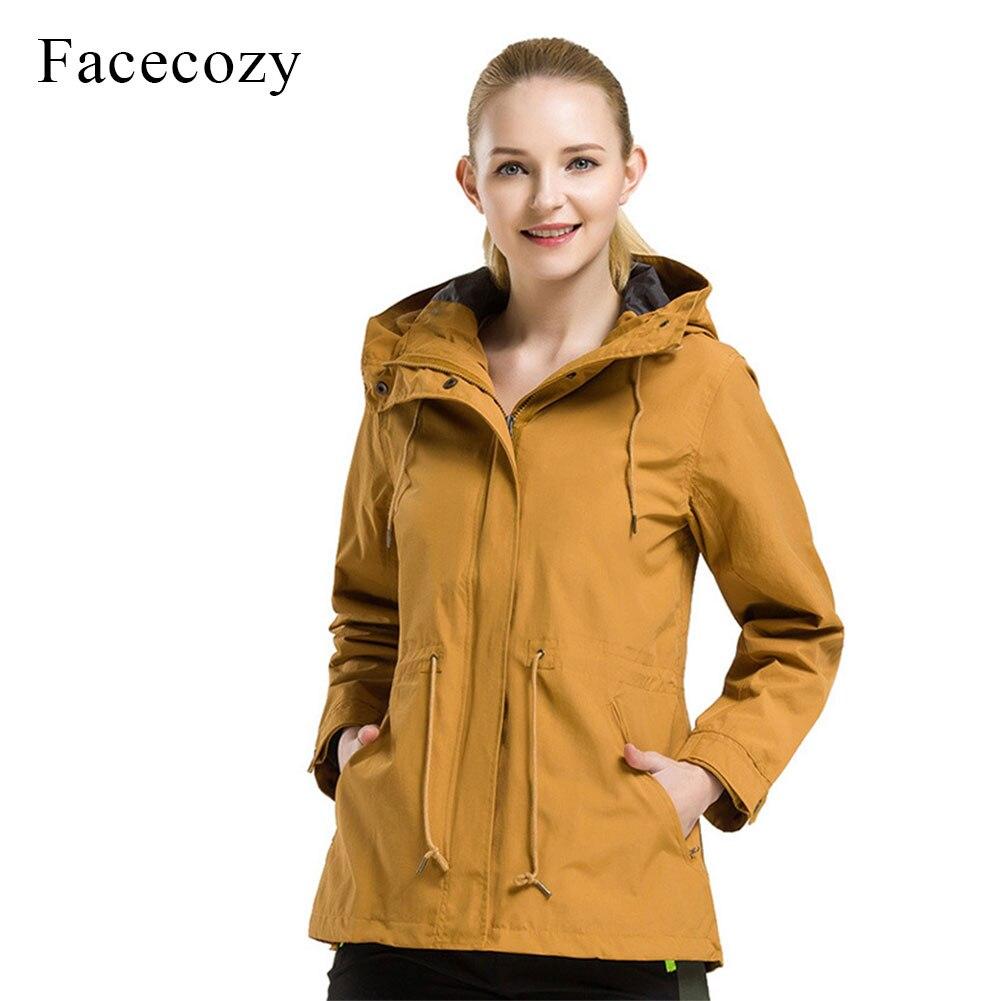 цены на Facecozy Women's Waterproof Autumn Winter Hiking Jackets Outdoor Camping Trekking Windbreaker Female Hooded Fleeced Coat Jaqueta в интернет-магазинах