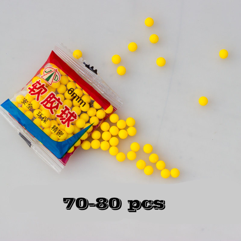 "6MM Gun Soft Bullet Toys Accessories 70-80Pcs(Please Leave A Message ""Adjust To Lowest Price"" When Order) Read Details"