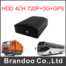 720P 4CH MDVR Car DVR With 3G GPS Support 2TB HDD
