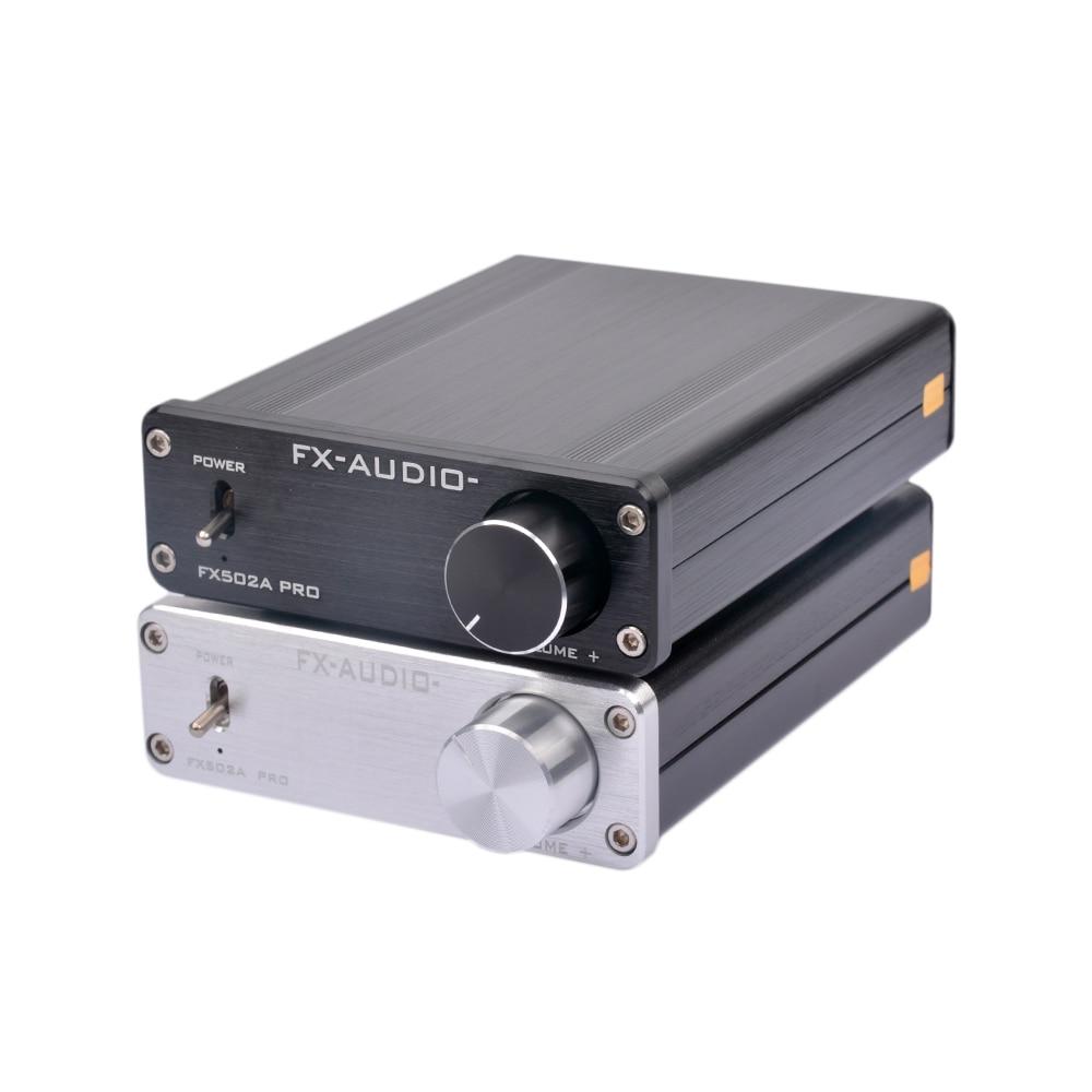 FX-Audio FX502A PRO HIFI 2.0 TA2024 TA2021 Pure Digital Audio High-power Mini Home Hifi Amplifier 50W*2 Without Power Plug fx audio d302 hifi pure digital amplifier 30w 2 192khz 24bit coaxial fiber optics usb input ta2024 ta2021 dc15v 4a power supply