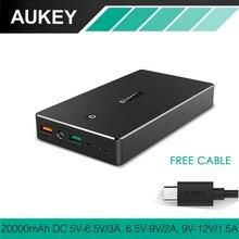 Aukey Quick Charge 3.0 2.0 20000 мАч Запасные Аккумуляторы для телефонов Портативный быстро Зарядное устройство Батарея для Xiaomi Redmi 4x Samsung Galaxy S8 iphone и т. д.