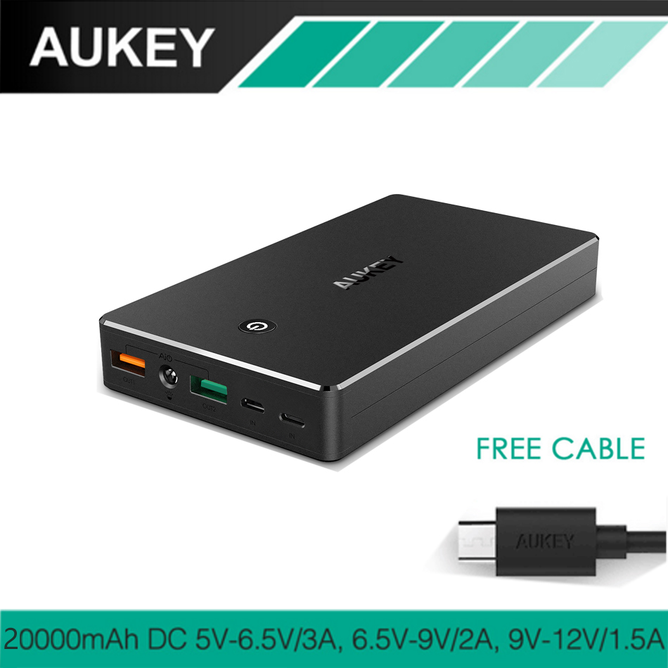 AUKEY Quick Charge 3 0 20000mAh Power Bank Portable Fast Charger External Battery for Xiaomi redmi