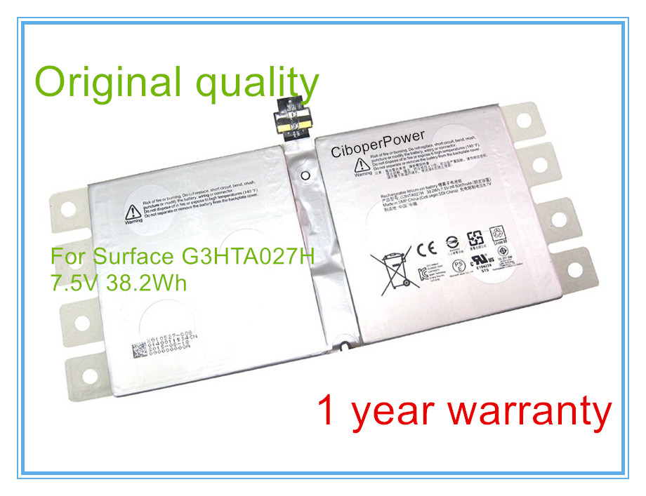 Original G3HTA027H Battery For Surface Pro4 PRO 4 1724 Table