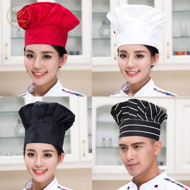 قبعات نادل طاهي سوشي سادة عالية الجودة بسعر الجملة للكبار في المطاعم والفندق ومخابز مقصف الطهاة وعمال الطهاة 13 لونًا