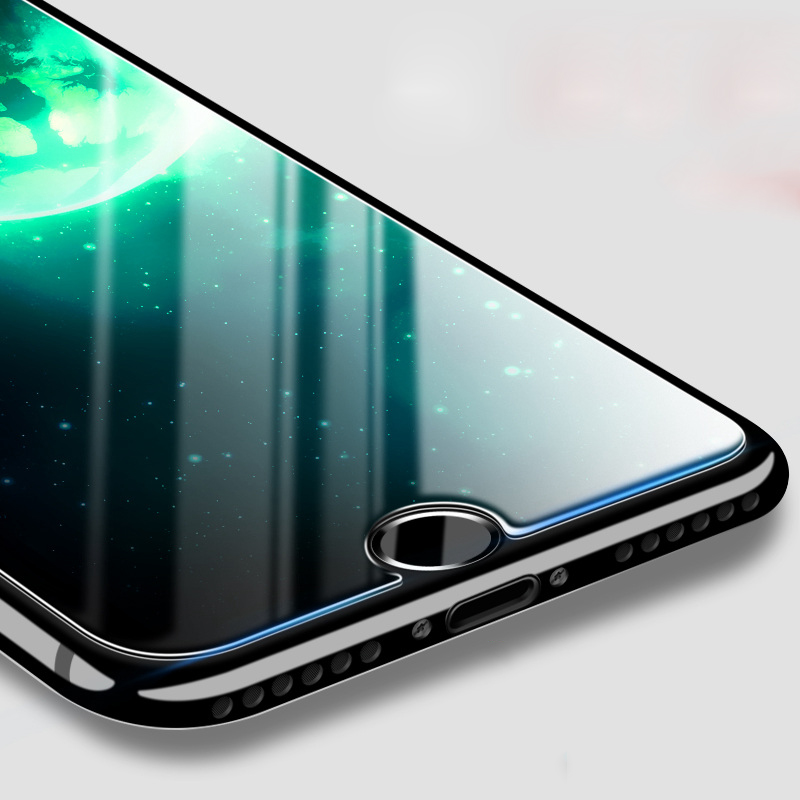 Προστατευτικό οθόνης H & lOO 9H 2.5D Tempered Glass για iPhone 11pro MAX XR XS MAX 8 7 6S Plus 5S SE Premium Protective Toughened Film