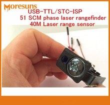 Cheapest prices Fast Free Ship USB-TTL/STC-ISP 51 SCM Phase Serial Port output laser range finder module/40M +-2mm Laser range sensor module