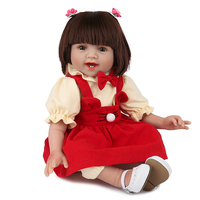 22''55cm bebe Reborn Dolls soft Silicone babies reborn Doll with White shoes Newborn Girl very beautiful Babies Toy For Kids Gif