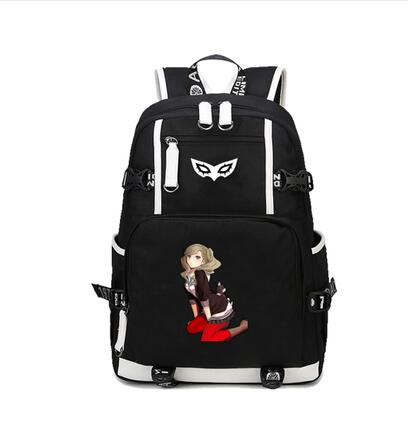 Game <font><b>Persona</b></font> <font><b>5</b></font> <font><b>Backpack</b></font> P5 cosplay canvas Package Male Female Students schoolbag men women Printed Cartoon shoulder bag <font><b>backpack</b></font> image