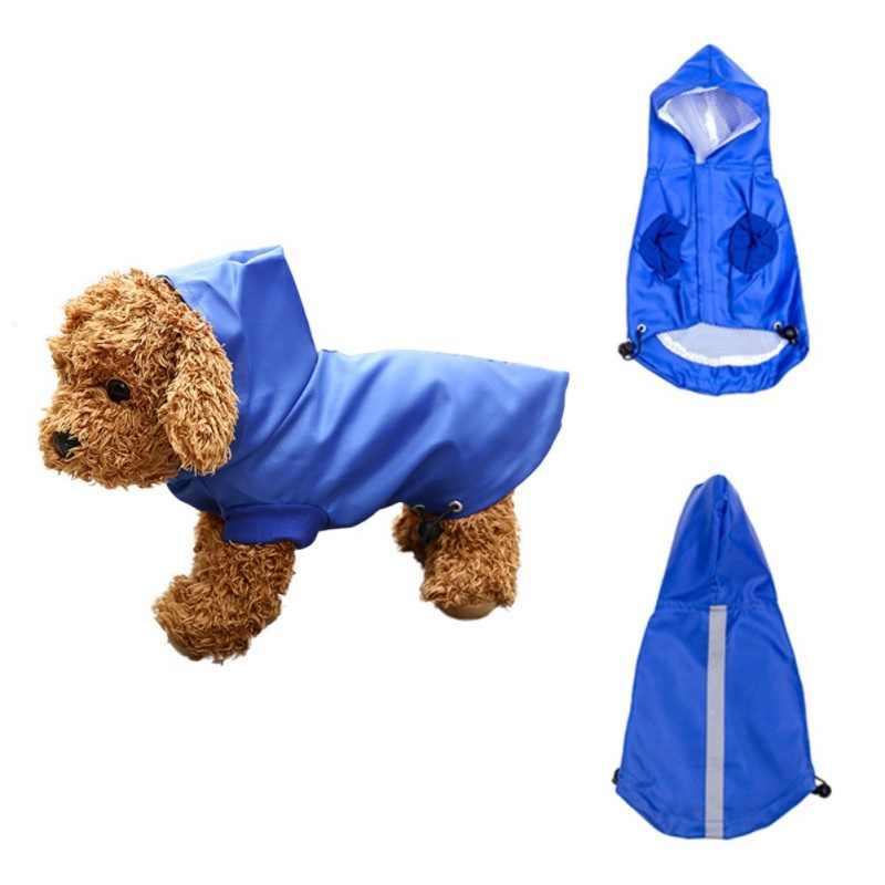 Regen Jas Voor Honden Pet Kleding Waterdicht Hooded Regenjas Overalls Puppy Chihuahua Teddy Huisdier Producten Ropa Perro Regenhoes
