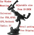 Universal car window holder for iPad, for galaxy tab, universal desktop mount for ipad2, 10pcs/lot PP bag packing