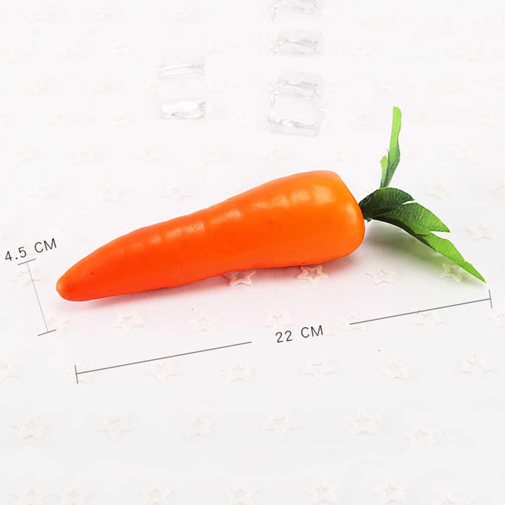 1 Buah Wortel Mini Buatan Busa Plastik Wortel Buah dan Sayur Berry Toko Dapur Rumah Dekoratif Fotografi Alat Peraga