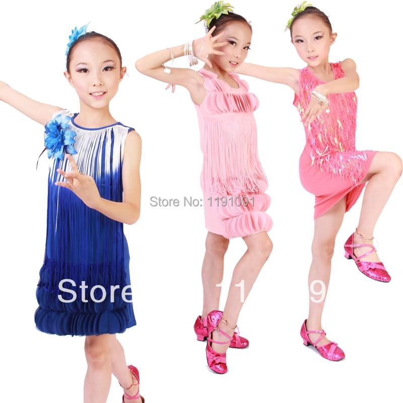 84f47dfd01d23 طفل اللاتينية الرقص ملابس الأطفال الرقص زي الرقص اللاتينية الملابس المنافسة  اللاتينية pratice الملابس