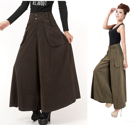 Aliexpress.com : Buy Big yards tall waist wide leg pants women ...