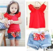 Baby Clothing Sets Girls Clothes Fashion Brand Pattern Kids Clothes Girls Set Tshirts+Skirt Rainbow Girls Clothing Sets(China)