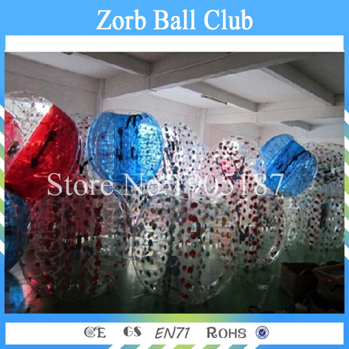 Free Shipping 6PCS+1Pumps1.5m Size 100% TPU Inflatable Bumper Ball, Zorb Ball,Bubble Football,Bubble Soccer,Loopy Ball For Sale