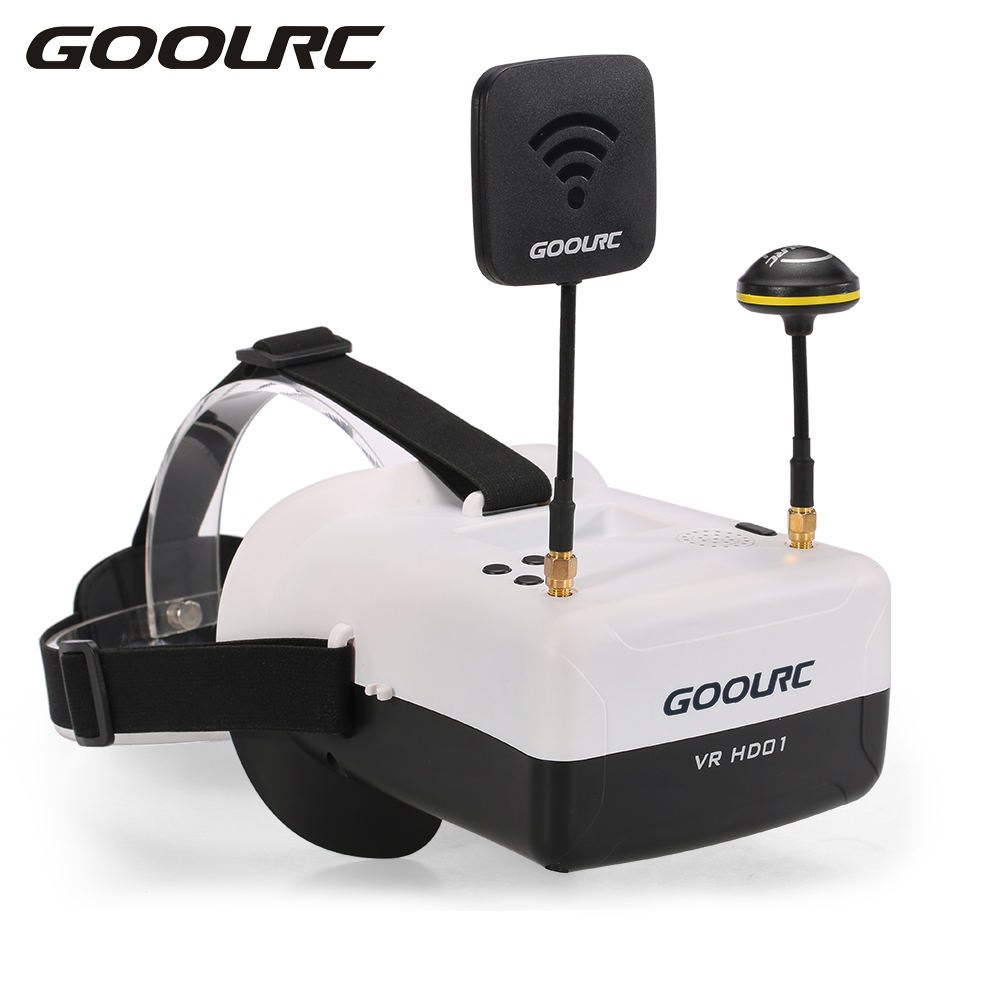 GoolRC RC Quadcopter VR HD01 5.8G 40CH Duo Antennas FPV Goggles Video Glasses VR Glasses for QAV250 FPV Racing Drone H501S wavelets technique for antennas