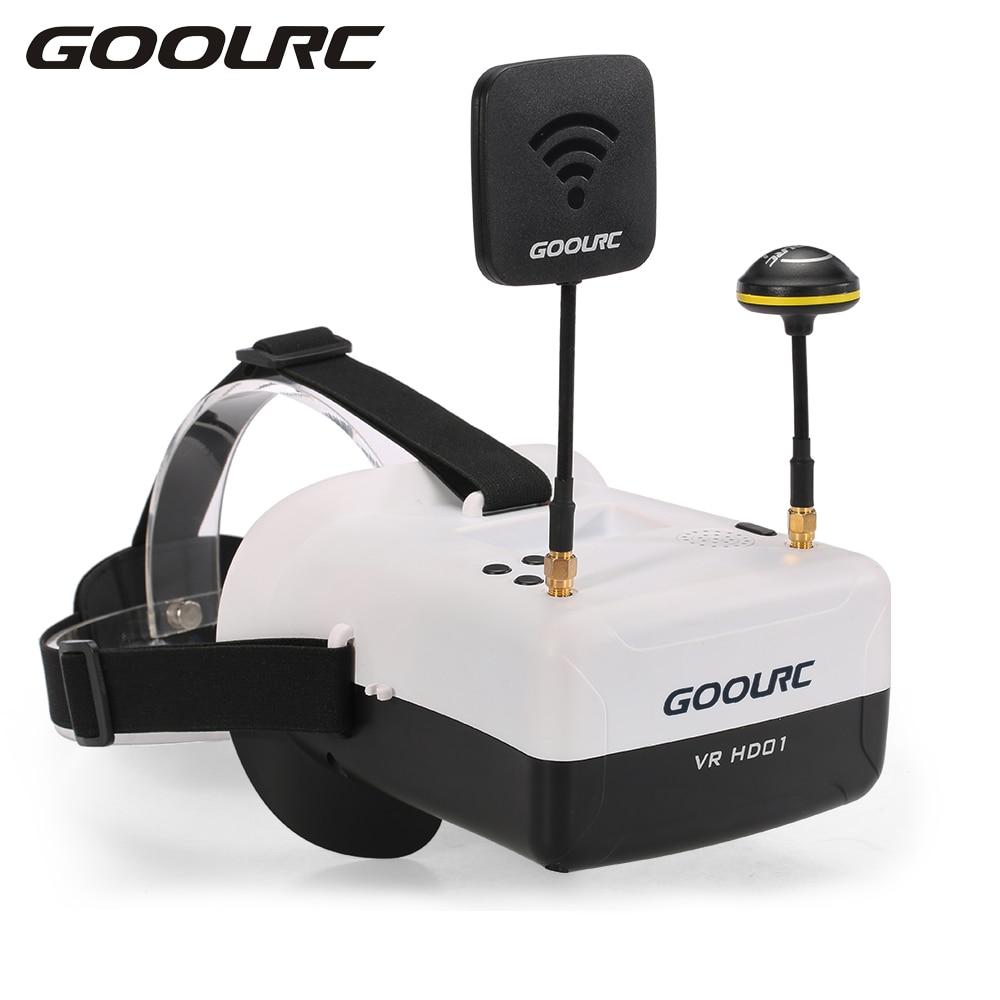 GoolRC RC Quadcopter VR HD01 5.8G 40CH Duo Antennas FPV Goggles Video Glasses VR Glasses for QAV250 FPV Racing Drone H501S f04305 sim900 gprs gsm development board kit quad band module for diy rc quadcopter drone fpv