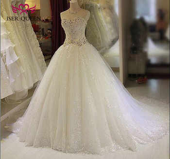 Neckline Ball Gown Bright Lace Tulle Arab Luxury Crystal Wedding Dress 2019 New Off Shoulder Sweetheart Wedding Dresses WX0135 - DISCOUNT ITEM  33% OFF All Category