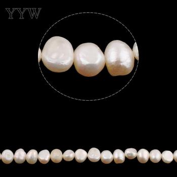 Cultured Baroque Freshwater Pearl Beads natural white 6-7mm Approx 0.8mm Sold Per Approx 15 Inch Strand cluci wholesale100pcs 6 7mm gold twins pearl oysters 200 pearls can get aaa akoya cultured in saltwater individually wrapped