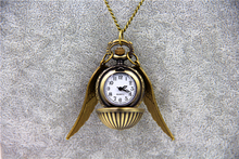 10pcs/lot Wholesale Fashion Antique Bronze Steampunk Pocket Watch HP Quartz Mechanical Watch Pendant Necklace