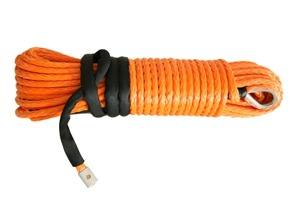 Image 1 - 10mm*30m Orange Synthetic Winch Rope,Boat Winch Cable,Plasma Winch Rope Extension