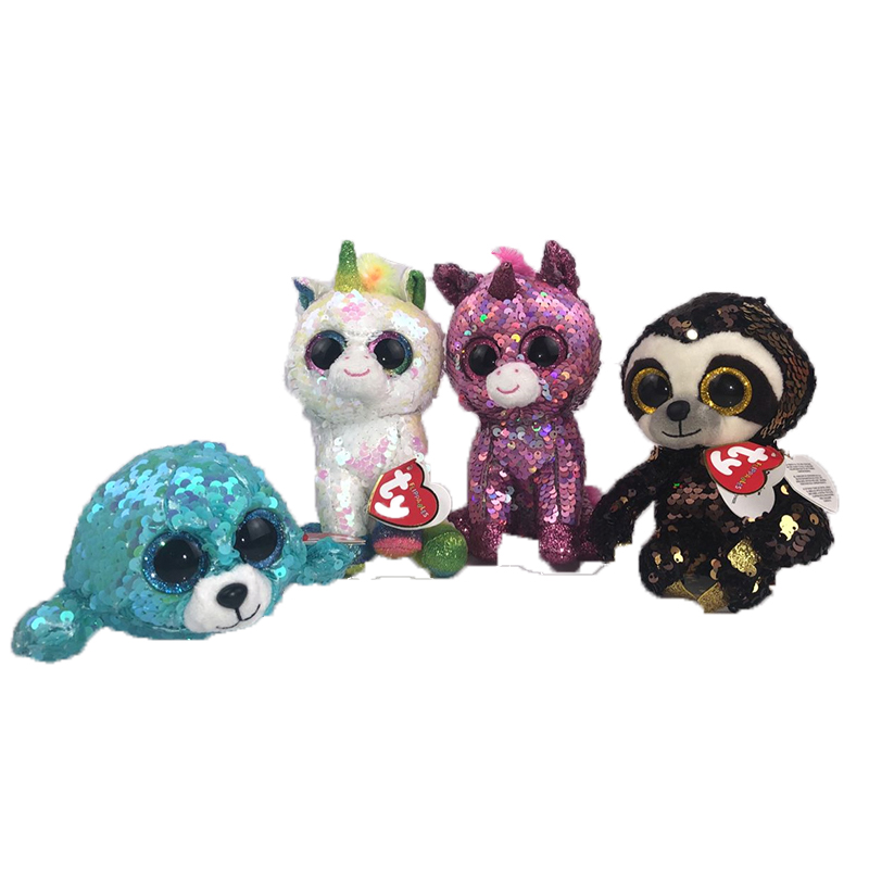 eefd4fb0273 ... Detail Feedback Questions about 15CM Hot Ty Beanie Boos Big Eyes  Dangler Sloth Shark white sequin ...
