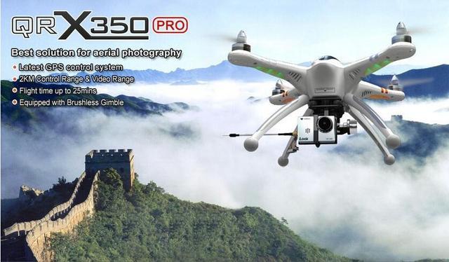 F15148 WALKERA QR X350 Pro GPS Drone DEVO F7 Transmisor 6CH Brushless UFO RC Helicóptero/Quadcopter Drone Compatible Gopro3 3 +