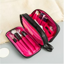 Nylon Fan-shaped Cosmetic Bag Women Travel Make up Toiletry Bag Fashion Necessaries Makeup Organizer Case