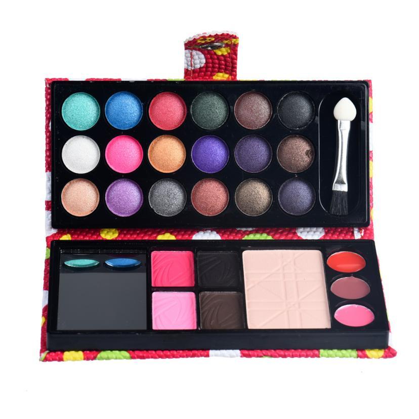 Hot Beautiful Lady 26Colors Eye Shadow Makeup set Palette Cosmetic Eyeshadow Blush Lip Gloss Powder set Dropshipping 1