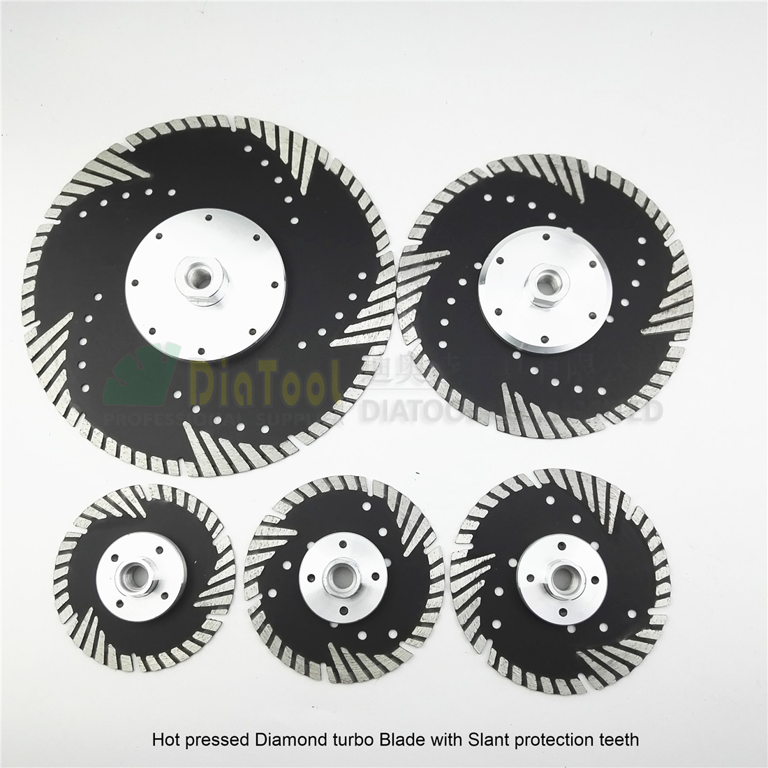 цена на DIATOOL Metal Bond Diamond Saw Blade With Slant protection teeth for stone concrete Masonry Diamond cutting discs