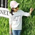 Girls t-shirt camiseta infantil menino kids tshirt poleras infantiles roupas kids clothes letter printing T-shirt tops girl