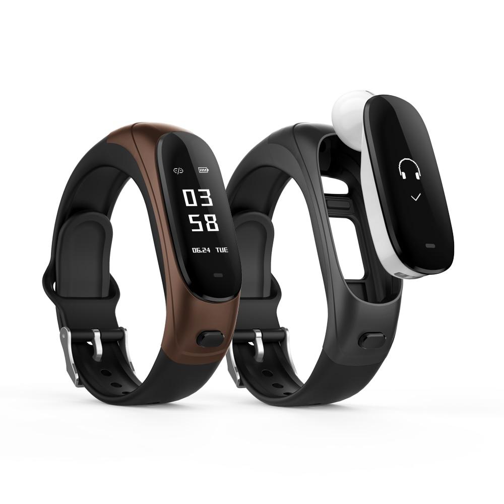 696 V08 Smart Bracelet Bluetooth Headset Blood Pressure Pulse Monitor Wristband Fitness Tracker Bracelets Band 0.96 Inch