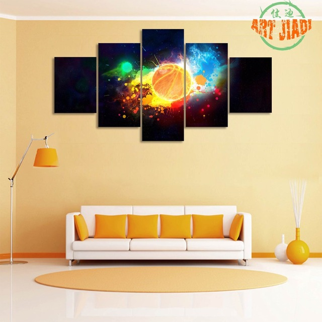 5 Piece/set canvas art The Dream Mars Basketball Decoration for home ...