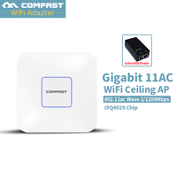 5Pc ~ COMFAST 1200Mbps WiFi Ceiling Wireless AP 802.11ac Qualcomm Indoor AP 48V POE OPEN DDWRT 12dbi antenna Access Point Bridge