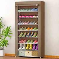 8 Tiers Simple Shoe Cabinet Nonwoven Fabric Removable Shoes Storage Closet for home furniture Large Saving Space Shoe Organizer