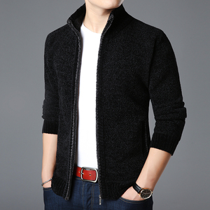 Image 4 - 2020 New Fashion Brand Sweater For Mens Kardigan Thick Slim Fit Jumpers Knitwear Warm Autumn Korean Style Casual Clothing Male