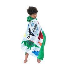 Bavilk Kids Children Hooded Poncho Dinosaur Swim Beach Bath Towel for Girls Boys  100% Cotton Printed Cartoon Fish Mermaid 224680e33
