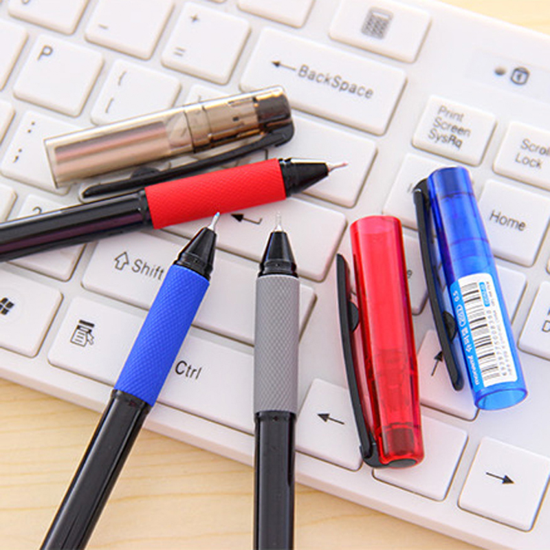 6 Pcs Lot Student Writing Super Gel Pen 0 5mm Black Blue Red Pens Office Supply Stationery Material School In From Supplies