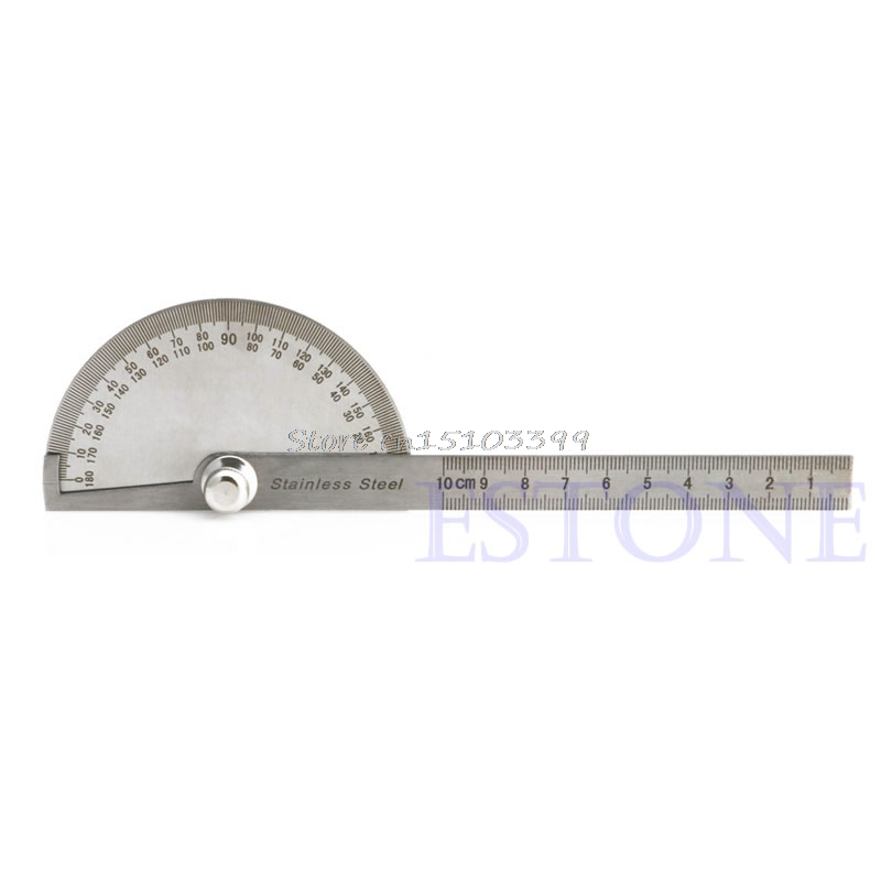 Stainless Steel Protractor Angle Finder Arm font b Measuring b font Ruler Tool 180 Degree