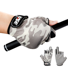Outdoor Sports Sun Protection Men Glove Waterproof Anti Slip Fishing Gloves Cut Finger Durable Gloves Carp Fishing Accessories недорого