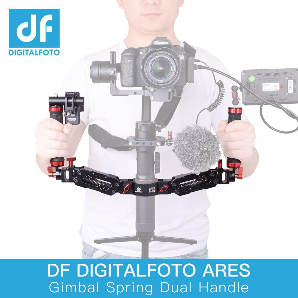 DIGITALFOTO Ares Z axis Alloy алюминиевая Съемная пружинная двойная ручка 5 кг загрузка для DJI Ronin S ZHIYUN Crane 2 MOZA AIR 2